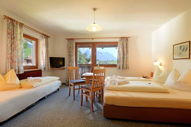 Dreibettzimmer Hotel Feichter