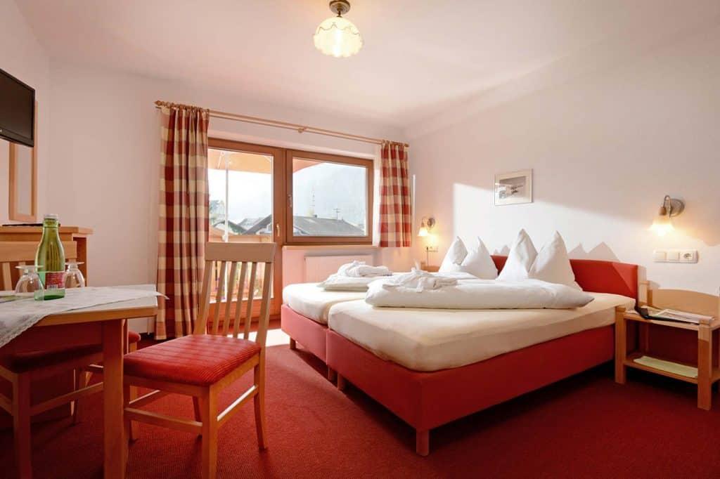 Zweibettzimmer beim Hotel Feichter
