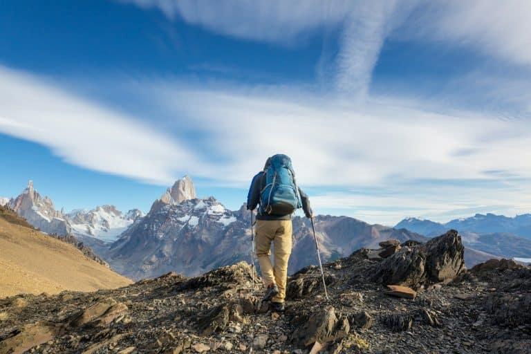 Wanderer auf den Tiroler Bergen