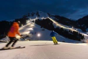 Nachskifahren Winter in der Skiwelt Söll