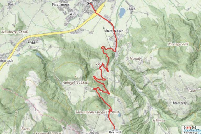 Mountainbiketour Söll Hochsöll